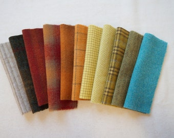 Hand Dyed and Felted Wool Fabric Perfect for Applique, Rug Hooking, Sewing, and Crafts