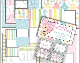 Little Britches Mini Candy Bar Set - includes 5 bag toppers and 4 mini wrappers - Digital Printable - Immediate Download