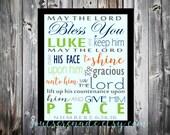 Custom scripture JACK printable Scripture printable Numbers 6 24 thru 26 digital download typography.