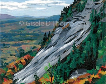 New 2016, White Horse Ledge, NH, Ready to Hang Painting, Acrylic, Wood panel