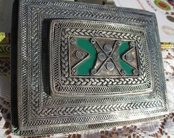 Price Reduced AGAIN Huge VTG Tribal Amulet Nearly a Pound Berber Taureg Maybe Afghani or Maybe Moroccan or Maybe Egyptian maybe Antique