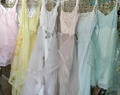 Mismatched Slip Dresses Tiered Sheer Boho Bridesmaids Bridal Party Fairytale Wedding Dress