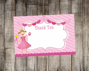 Pinkalicious Inspired Thank You Card - Print Your Own