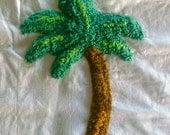 Savannah Palm Cotton Chenille Fabric 30 x 15 Inches