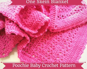 PATTERN - One Skein Blanket for Babies