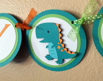 Dinosaur Party Banner, Dinosaur Birthday Party Banner, Dinosaur Birthday Banner, Dinosaur Baby Shower, TRex Banner, Dinosaur 1st Birthday