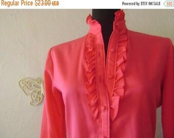 ON SALE 50% OFF Raspberry ruffle blouse