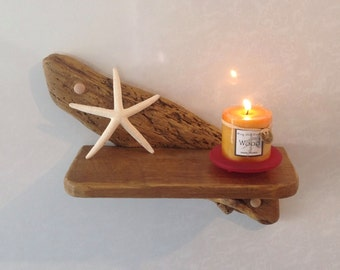 Small driftwood shelf, Sconce, Art. Sculpture, Nautical, Crafts