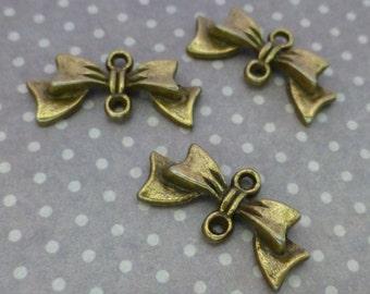 20 pcs Antique Bronze Connectors  Links Bow