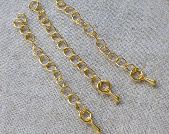 20 pcs Gold Extension Extender Chain Tail Links with teardrop