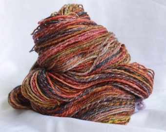 Hand spun 3 ply super wash merino light worsted 248 yards