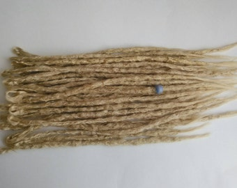 30 Light Ash blonde Synthetic dreadlock extensions. Dreadlocks. Knotty Blonde dreads. Synthetic dreads. Ready to Ship. High quality crochet