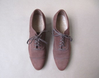 1940s leather oxfords 9