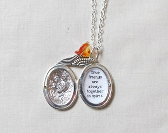 Anne of Green Gables Necklace Locket Quote Jewellery Jewelry. Kindred Spirits Best Friends BFF. Two Cheeky Monkeys Handmade Literature Gift