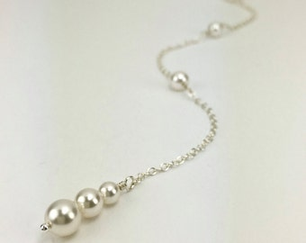 Pearl Bridal Accessory Pearl Necklace Bridal Accessory 3 Pearl Piper