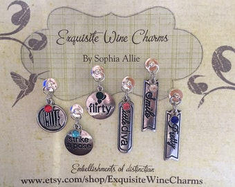 Strike A Pose Magnetic Wine Charms