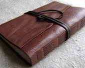 "Large Leather Journal , 6""x 9"", rustic brown, handmade journal by Dancing Grey Studio(1922)"