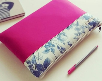 "MacBook Air 11"" Sleeve, Macbook Air 11"" Case, MacBook Case, MacBook Laptop Sleeve, Laptop Bag, Laptop Case - Floral Hot Pink Macbook Sleeve"