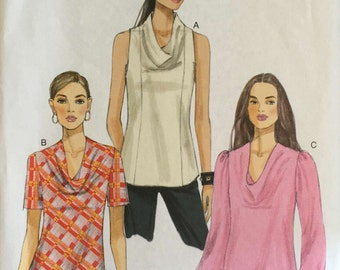 Vogue V9006 Sewing Pattern, Ladies Tops, 16-18-20-22-24