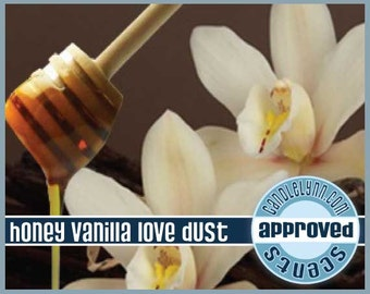 HONEY VANILLA LoVE DUST scented Clam Shell Package - Tarts