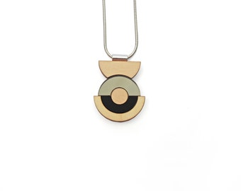 Concentric Circle Necklace - Bronze