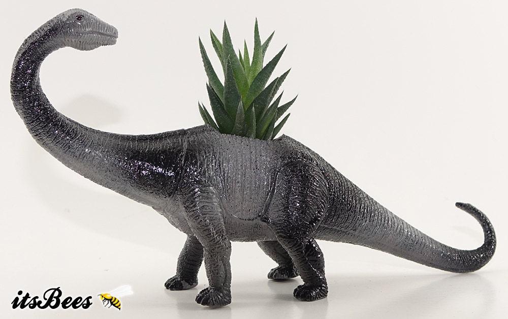 Diplodocus Dinosaur Planter Pot Room Decor Desktop Table