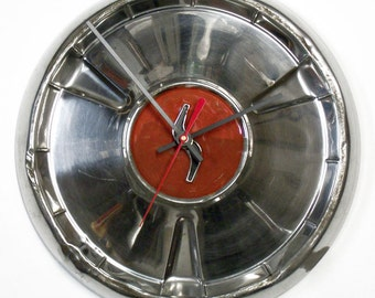 1960 Studebaker Lark Hubcap Clock - Classic Car Wall Clock - Retro Wall Decor