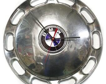1967 - 1973 BMW 2002 Hubcap Wall Clock - Classic Car Hub Cap - 1968 1969 1970 1971 1972 - Garage Automotive Decor