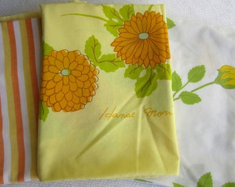 Vintage Collection Yellow Orange Pillow Cases set of 3