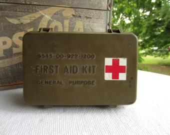 Vintage 1970s Military First Aid Kit with Original Contents