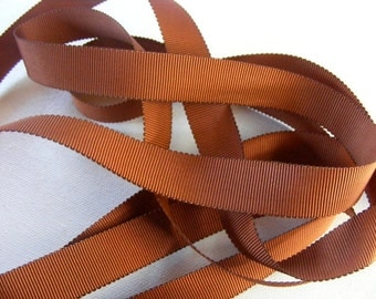 Vintage 1930's-40's Petersham Grosgrain Ribbon -Milliners Stock- 5/8 inch Copper
