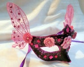 Sweet Cherry Butterfly Hand Painted Mask