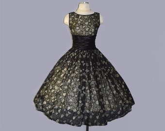 ON HOLD / Not for Sale / Champagne Jubilee dress / vintage 1950s dress / 50s couture party dress
