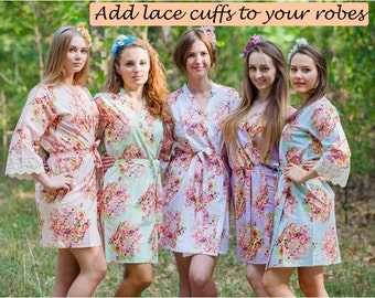 Add lace cuffs to your robes
