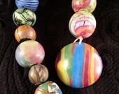 SALE. String of Mixed Focals with striped dome #1