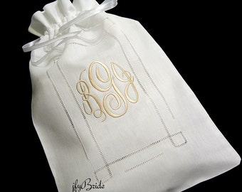 Irish Linen Bridal Money Bag, Wedding Card Purse, Wedding Money Purse, Dollar Dance Bag, Brides Money Bag, Style 9843