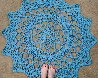 Doily Rug - PDF Crochet Pattern - Instant Download