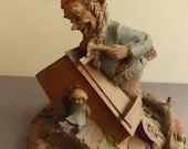Vintage Cairn Studio Tom Clark Gnome Noah Building a Cradle