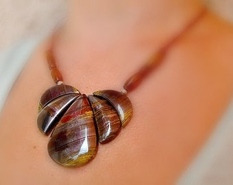 Iron Tiger Eye Necklace