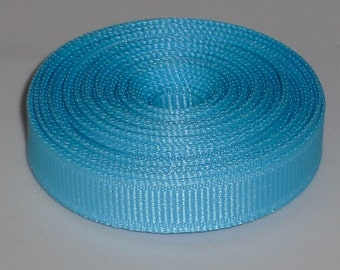 Mystic Blue 3/8 inch Solid Grosgrain Ribbon 10 yards