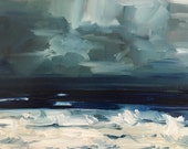 Choppy Waves • original oil painting 5x7""