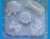 SALE Creepy Cute Pallet Drip Heart-Skull-Hand-Bow-Bone-Handamde Flexible Resin Mold