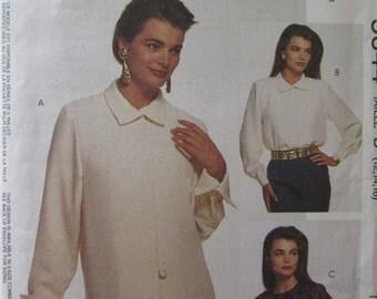 McCalls 5644 Uncut Sewing Pattern Misses Blouses Size 12-14-16, 1991