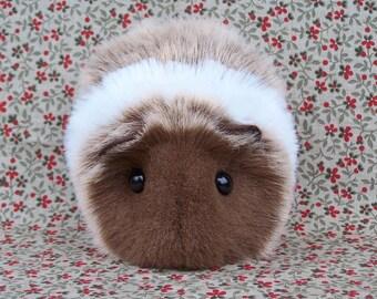 Chocolate Brown Guinea Pig Handmade Plush Toy
