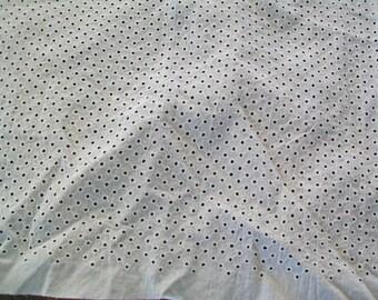 Vintage White Eyelet Fabric - Retro Cotton - Doll Dress