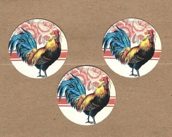 Stickers, French Rooster, Farmhouse, Rooster Stickers, Vintage Style, French Farm House