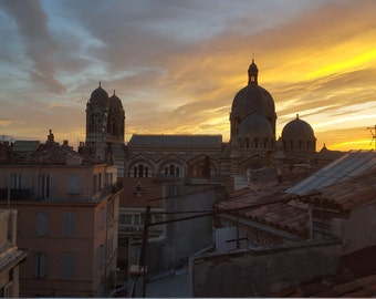 Sunset View of Old Marseille - Limited Edition Fine Art Photograph