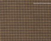 Dunroven House Homespun Navy Blue & Beige Plaid Fabric H-202  1/2 Yard Cut Off The Bolt