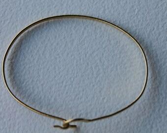 Raw brass bangle