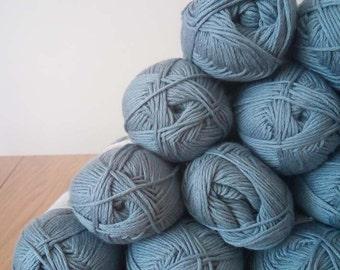 SALE - 16 Organic Yarn Balls - Steel Blue